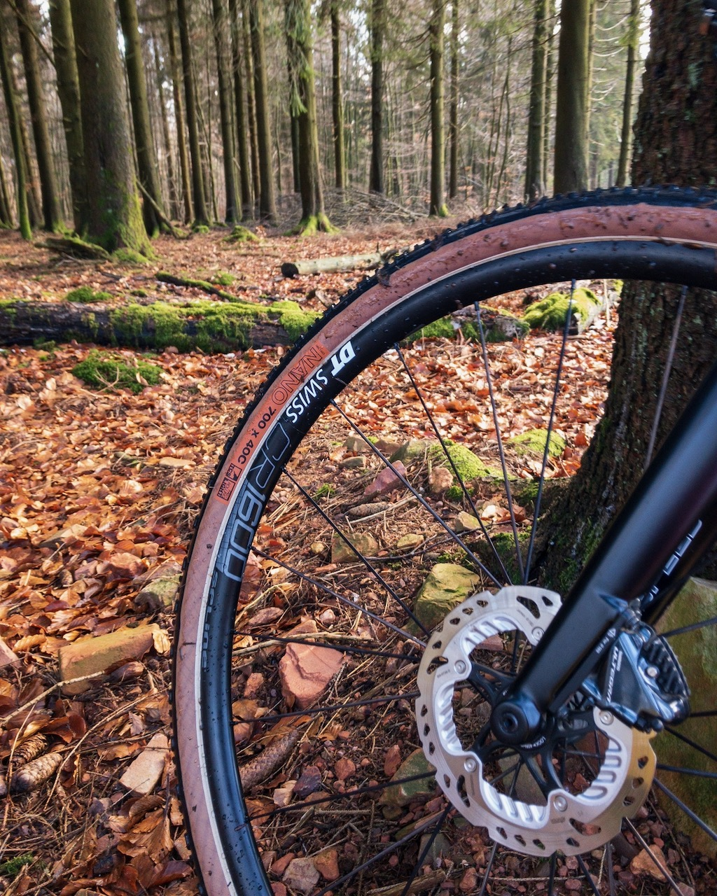 Wtb NANO 40 on DT Swiss CR1600 Spline db 23 wheels in the forest