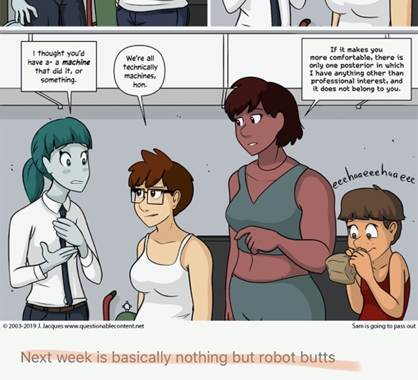 A week dedicated to robot butts