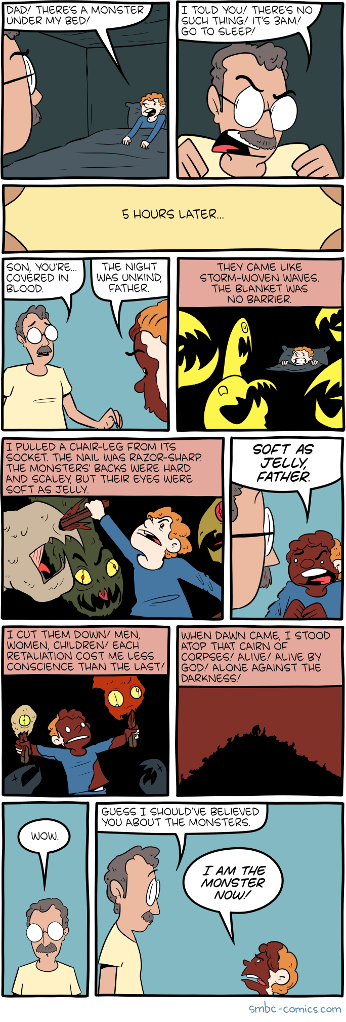 Monster under the bed — SMBC