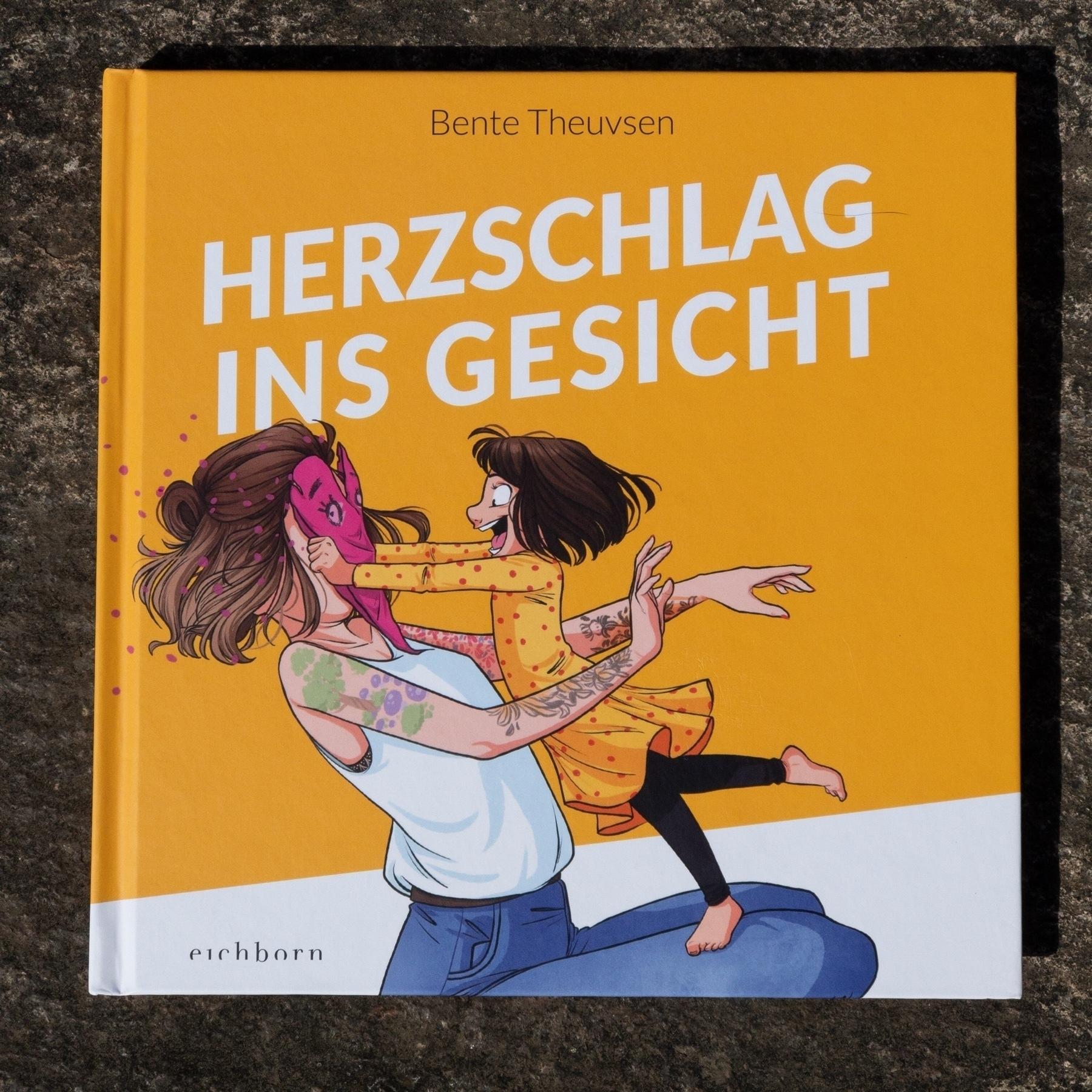 Foto eines Buches von Bente Theuvsen: Herzschlag ins Gesicht (ISBN: 978-3-8479-0078-8).