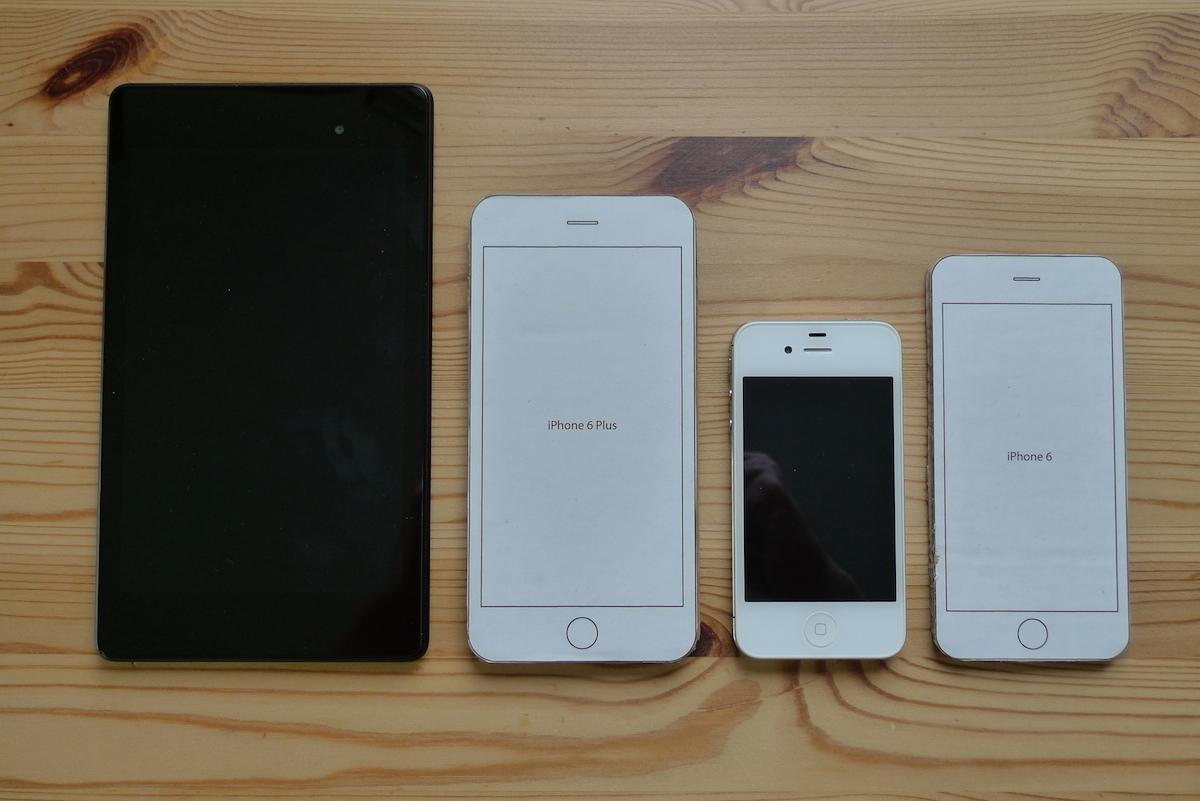 Google Nexus 7 (2013) vs. iPhone 6 Plus vs. iPhone 4S vs. iPhone 6