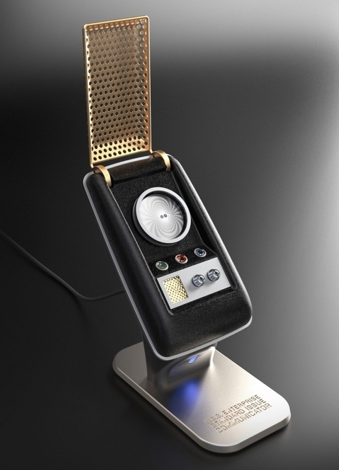 Star Trek The Original Series Communicator Bluetooth Handset. Image courtesy of shop.startrek.com