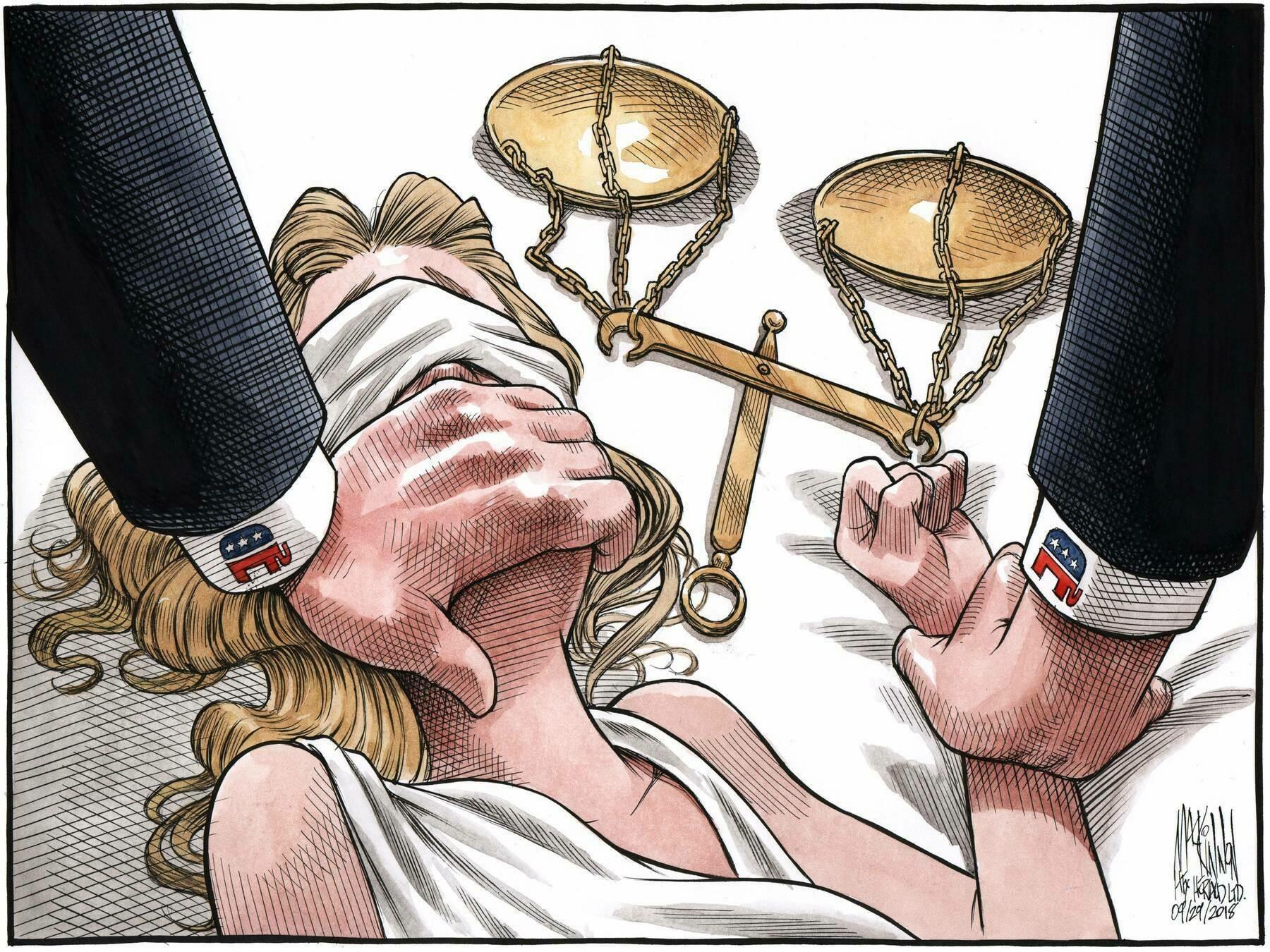 Bruce MacKinnon's editorial cartoon for Sept. 29, 2018. - Bruce MacKinnon, Copyright: The Chronicle Herald